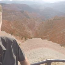 Dennis Cheatham in front of Cedar Breaks canyon in Utah